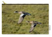 American Wigeon Pair In Flight Carry-all Pouch