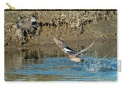 American Wigeon Pair Taking Carry-all Pouch