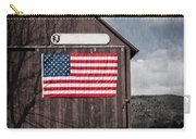 Americana Patriotic Barn Carry-all Pouch by Edward Fielding