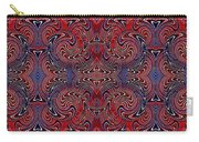 Americana Swirl Banner 3 Carry-all Pouch by Sarah Loft