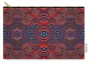 Americana Swirl Banner 4 Carry-all Pouch by Sarah Loft