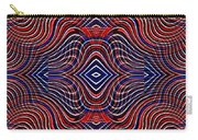 Americana Swirl Design 11 Carry-all Pouch by Sarah Loft
