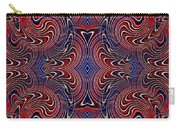 Americana Swirl Design 4 Carry-all Pouch by Sarah Loft