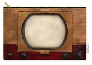 Americana - Tv - The Boob Tube Carry-all Pouch by Mike Savad