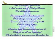 America's Team Poetry Art Poster Carry-all Pouch by Stanley Mathis