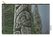Amid The Mist - Totems Carry-all Pouch by Elaine Booth-Kallweit