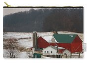 Amish Barn In Winter Carry-all Pouch by Dan Sproul