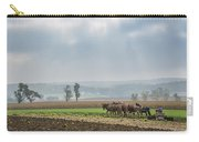 Amish Boy Plowing Carry-all Pouch