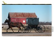 Amish Buggy And Star Barn Carry-all Pouch