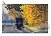 Amish Buggy And Yellow Leaves Carry-all Pouch