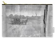 Amish Buggy In Old Book Carry-all Pouch