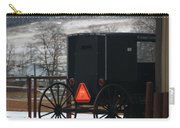 Amish Buggy In Winter Carry-all Pouch