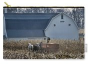 Amish Corn Picking And 1919 Barn Carry-all Pouch