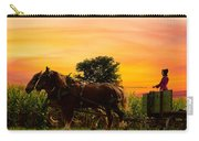 Amish Girl Handling The Team Sundown Carry-all Pouch