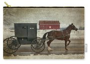 Amish Horse And Buggy And The Star Barn Carry-all Pouch