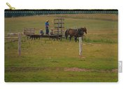 Amish Man And Two Sons On The Farm Carry-all Pouch