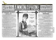 Ammoniaphone, 1885 Carry-all Pouch