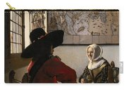 Amorous Couple Carry-all Pouch by Jan Vermeer