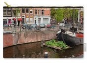 Amstel River Waterfront In Amsterdam Carry-all Pouch