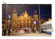 Amsterdam Central Station And Metro Entrance Carry-all Pouch