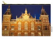 Amsterdam Central Train Station At Night Carry-all Pouch