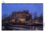 Amsterdam Corner Cafe With Light Trails Carry-all Pouch