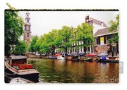 Amsterdams Westerkerk From The Canal  Carry-all Pouch