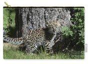Amur Leopard Cub Antics Carry-all Pouch