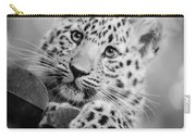 Amur Leopard Cub Portrait Carry-all Pouch
