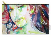Amy Winehouse Watercolor Portrait.1 Carry-all Pouch