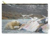 An Adult Polar Bear Ursus Maritimus Carry-all Pouch