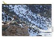 An Afghan Border Patrolman Provides Carry-all Pouch