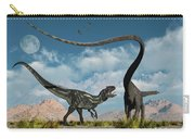 An Allosaurus In A Deadly Battle Carry-all Pouch