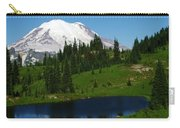 An Alpine Lake Foreground Mt Rainer Carry-all Pouch