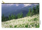 An Alpine Slope Turns White Carry-all Pouch
