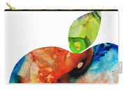 An Apple A Day - Colorful Fruit Art By Sharon Cummings  Carry-all Pouch by Sharon Cummings