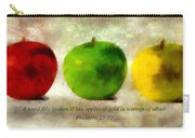 An Apple A Day With Proverbs Carry-all Pouch