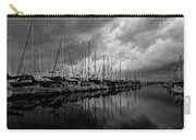 An Approaching Storm - Black And White Carry-all Pouch