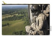 An Army Crew Chief Looks Out The Door Carry-all Pouch