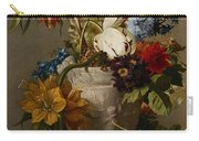 An Arrangement With Flowers Carry-all Pouch by Georgius Jacobus Johannes van Os