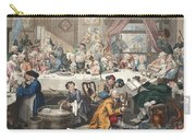 An Election Entertainment, Illustration Carry-all Pouch by William Hogarth