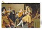 An Elegant Company Playing Music In An Carry-all Pouch by Dirck Hals