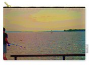 An Expanse Of Sky And Sea Twilight Fishing The Canal St Lawrence River Scenes Art Carole Spandau Carry-all Pouch