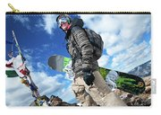 An Extreme Snowboarder Stands Carry-all Pouch