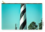 An Image Of Lighthouse In Small Town Carry-all Pouch