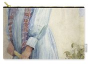 An Italian Peasant Girl Carry-all Pouch by Ada M Shrimpton