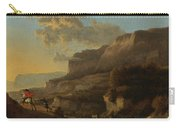 An Italianate Landscape With Travellers Ambushed By Bandits Carry-all Pouch