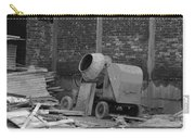 An Old Cement Mixer And Construction Material Carry-all Pouch