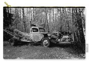 An Old Logging Boom Truck In Black And White Carry-all Pouch