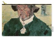 An Old Man, Celeyran, 1882 Oil On Canvas Carry-all Pouch